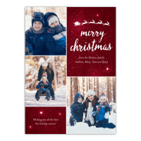 Twinkling Stars - 5x7 Personalized Christmas Card