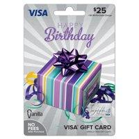Vanilla Visa Birthday Party Box Gift Card - $25