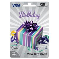 Vanilla Visa Birthday Party Box Gift Card - $25
