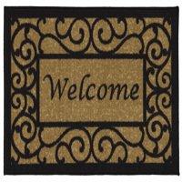 Ottomanson Welcome Non-Slip Floral Indoor Door Mat