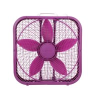 """Lasko Cool Colors 20"""" 3-Speed Box Fan, Model #B20301, Purple"""