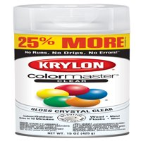 Krylon® ColorMaster Paint + Primer Gloss Acrylic Crystal Clear, 15-Oz