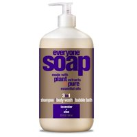 EO Everyone Lavender & Aloe 3-in-1 Body Wash Bubble Bath Shampoo 32 Oz.