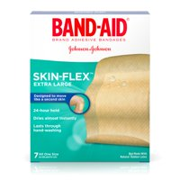 (2 pack) Band-Aid Brand Skin-Flex Adhesive Bandages, Extra Large Size, 7 ct
