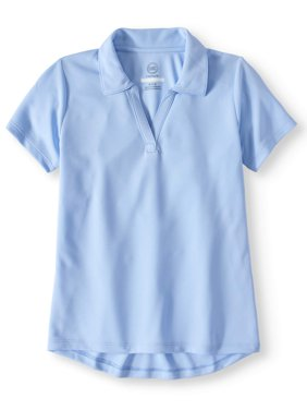 Girls School Uniform Short Sleeve Performance Polo