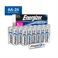 Energizer Ultimate Lithium AA Batteries, 24 Pack