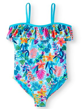 Tropic Dream Cold-Shoulder One-Piece Swimsuit (Little Girls, Big Girls & Big Girls Plus)