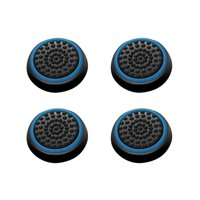 Insten 4pcs Black/Blue Silicone Thumb Thumbstick Grips Analog Stick Cover Caps for Xbox 360 Xbox One PS4 PS3 PS2 Sony PlayStation 2 3 4 Controller