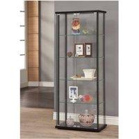 Coaster Company Curio Cabinet, Black and Glass