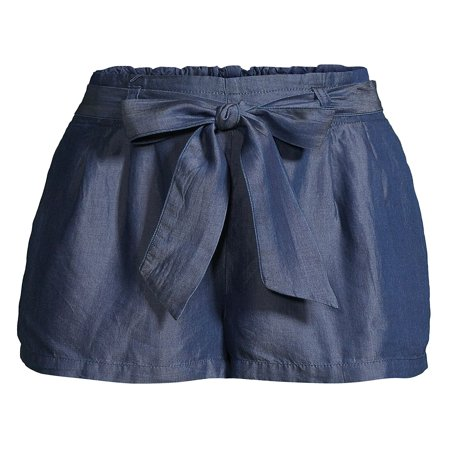 Chambray Tied-Bow Shorts (Tommy Hilfiger Jeans Shorts Women)