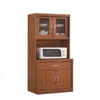 Hodedah Modern Kitchen Cabinet, Cherry