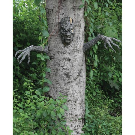 Spooky Living Tree Halloween Decoration - Halloween Outside Decorations Uk