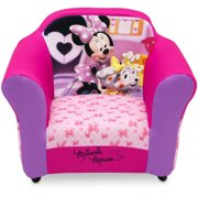 c5ec26021ca0f Disney Minnie Mouse Kids Upholstered Chair with Sculpted Plastic Frame by  Delta Children