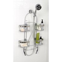 Zenna Home Expanding Shower Caddy, Chrome with Brushed Accents