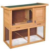 """Jaxpety 36"""" Rabbit Hutch Bunny Cage Hutch House"""