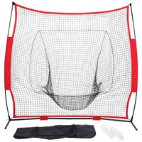 Yaheetech Portable 7' x 7' Baseball and Softball Practice Net for Pitching and Hitting