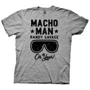 6531dcc3f02ebf WWE- Macho Man Randy Savage Oh Yeah! Apparel T-Shirt - Grey