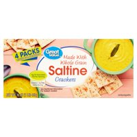 (3 Pack) Great Value Whole Grain Saltine Crackers, 16 oz, 4 Count