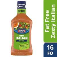 (3 Pack) Kraft Zesty Italian Fat-Free Dressing, 16 Fl Oz Bottle