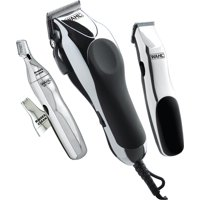 WAHL Signature Series Home Barber Kit - Full size clipper, trimmer for sideburns and necklines and personal trimmer with two interchangeable heads - Model 79524-3001