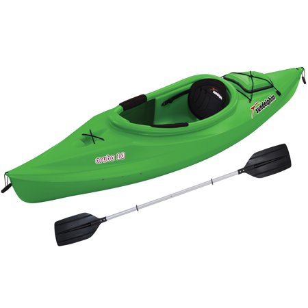 Sun Dolphin Aruba 10' Sit In Kayak Lime, Paddle Included 2 Person Travel Kayak
