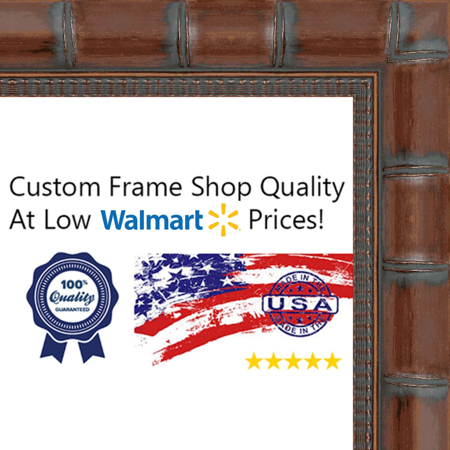 5x9 5 X 9 Brown Bamboo Solid Wood Frame With Uv Framers Acrylic
