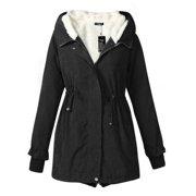 Womens Warm Winter Hooded Faux Fur Lined Parkas Long Coats