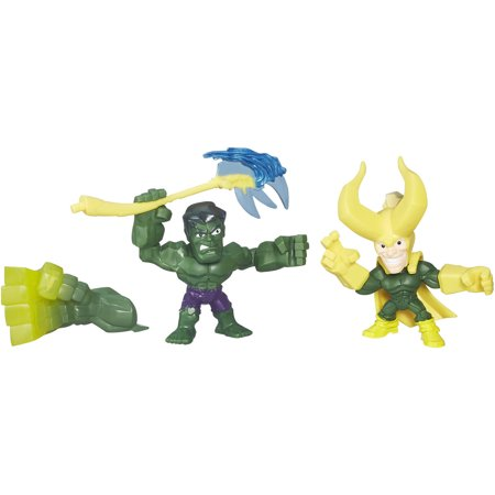 Marvel Super Hero Mashers Micro Hulk and Loki 2 Pack - Superhero Slash
