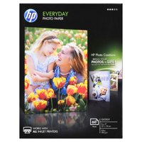 HP, HEWCH097A, Everyday Photo 5x7 Glossy Paper, 1 / Pack, White