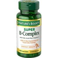 Nature's Bounty B-Complex with Folic Acid plus Vitamin C, Tablets, 100ct
