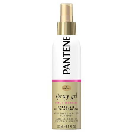 Pantene Pro-V Curl Spray Gel to Hold Shape & Resist Humidity, 5.7 fl oz - Mustache Curl