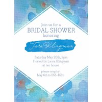 Floral Weave Standard Bridal Shower Invitation