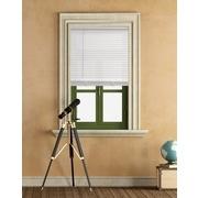 Mainstays 1 inch Cordless Light Filtering White Vinyl Window Blinds-35X64