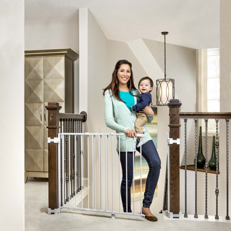 Garden Gate Wall (Regalo 2-In-1 Stairway and Hallway Baby Gate, Includes Banister and Wall Mounting Kits )