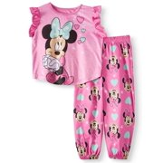 Toddler Girls  Minnie Mouse Short Sleeve Top and Pants a866b1251