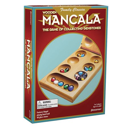 Mancala Game Set - Pressman Folding Wood Mancala - Ages 6+