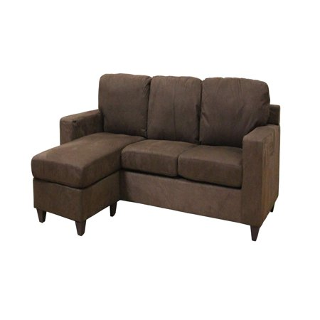 Acme Vogue Microfiber Reversible Chaise Sectional Sofa Multiple