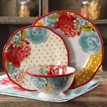 Jubilee Set (The Pioneer Woman 12-Piece Dinnerware Set, Walmart Exclusive )
