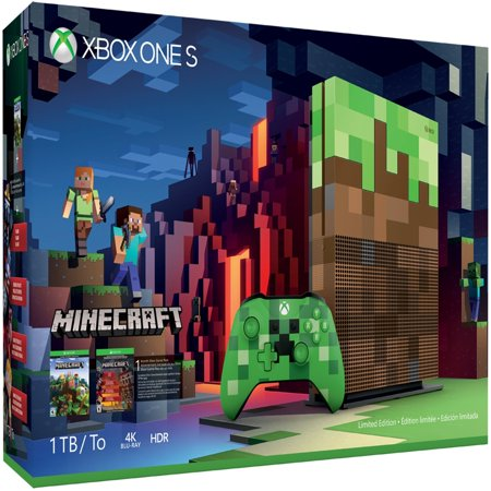 Microsoft Xbox One S 1TB Minecraft Limited Edition Bundle, (Limited Bundle)