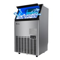 Zimtown Built-In Stainless Steel Commercial Ice Maker Portable Ice Machine Restaurant
