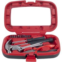 Household Hand Tools, Tool Set - 15 Piece by Stalwart, Set Includes – Hammer, Wrench, Screwdriver, Pliers (Tool Kit for the Home, Office, or Car)
