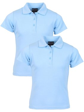 Girls' School Uniform 2 Pack Short Sleeve Pique Polo