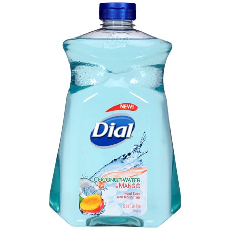 (2 pack) Dial Liquid Hand Soap with Moisturizer, Coconut Water & Mango, 52 Oz Dial Foaming Antimicrobial Soap