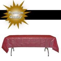 """Exquisite 12 Pack Premium Rectangular Plastic Tablecloth, Blue, 54"""" x 108"""""""