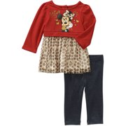 89be691e65d Newborn Baby Girls  Skirted Tunic and Leggings Outfit Set