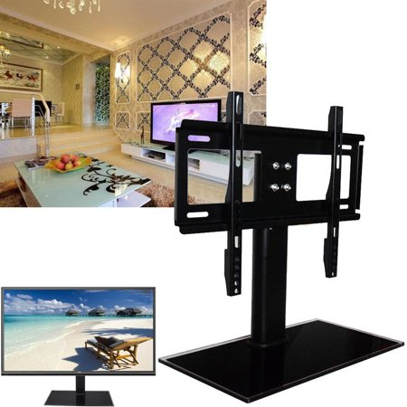 Ymiko TV Table Top Stand Swivel Mount For 26 to 32 Inches LCD LED Plasma TV Adjustable Universal TV Tabletop Samsung Sony LG