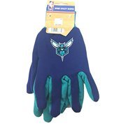 Charlotte Hornets Embroidered Logo Two Tone Multi Purpose Gloves
