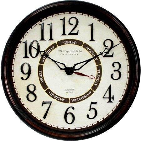 """Better Homes & Gardens 20"""" Calendar Wall Clock"""