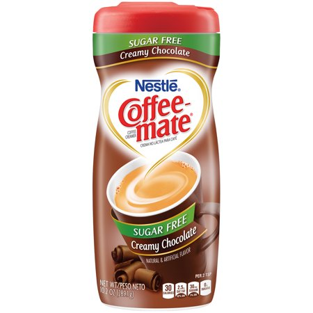 Champagne Creamer - (3 pack) COFFEE MATE Sugar Free Creamy Chocolate Powder Coffee Creamer 10.2 oz. Canister