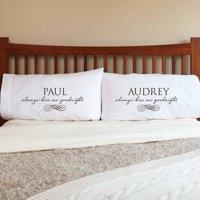 Personalized Always Kiss Me Goodnight Pillowcase Set